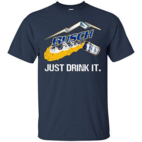 Mummy Tee Just Drink It Busch Light T-Shirt (Navy;L)