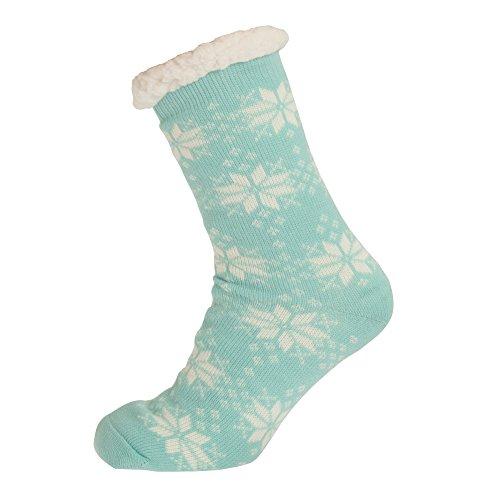 Aler Ladies Snowflake Co Zees Design Womens Red Slippers 1 Thermal Pair rSA57rwq