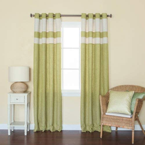 Best Home Fashion Closeout Striped Heavyweight Textured Faux Linen Curtains