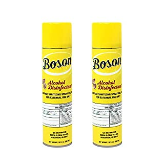 2-Pack Boson Disenfectant Spray Arisol Can [Made in USA] 75% Alchol Alchohol