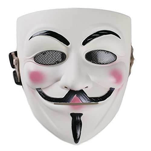 (Xcoser Masquerade Anonymous V Mask Props for Halloween Costume Resin)