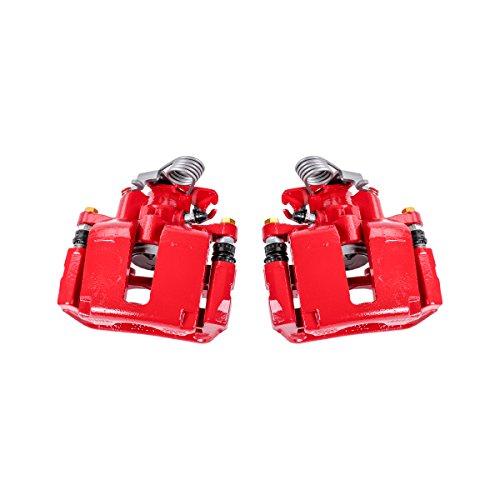 Callahan CCK03718 REAR Premium Red Coated Caliper Pair + Hardware Kit [Left & Right]