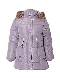 Girls Golden Button Padded Jacket