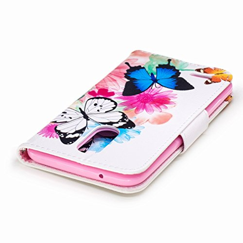 Wallet Pa Case Yiizy Butterfly Protective 2017 Slim Housing Case Premium Lg Stand Cover Flip Shell Case Pu M250n K10 Design Leather Shell Groove X400 Bumper Skin Lg Flower Flap Cover Lg 7Aq7W0f