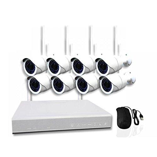 AMGoCam / 8-Kanal WLAN DVR 634 / Videoüberwachung / 2TB Speicher / Überwachungskamera / 8 x 940nm HD Wand-Kamera