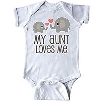 inktastic My Aunt Loves Me Gift Infant Creeper Newborn White
