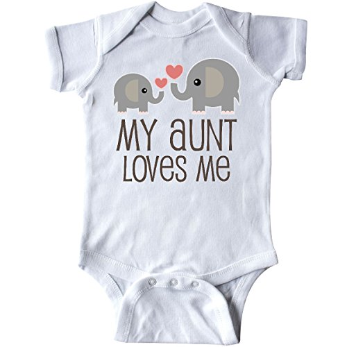 inktastic - My Aunt Loves Me Gift Infant Creeper Newborn White - Baby Infant Creeper