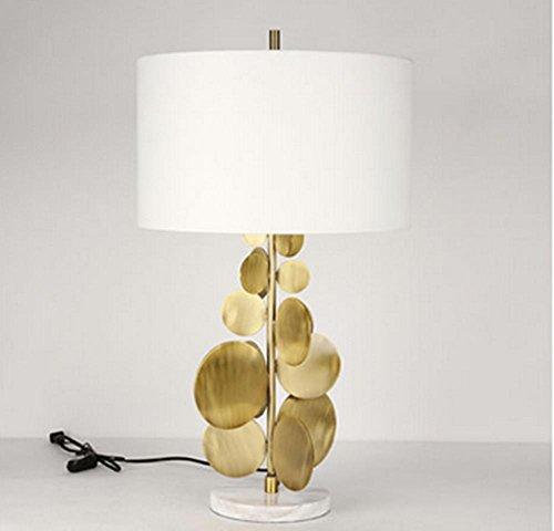 Knopf-Art Elektronische Transformator Einfache Kupfer Wafer Kreative Lampe Moderne Mode Dekoration Modell Wohnzimmer Schlafzimmer Lampe