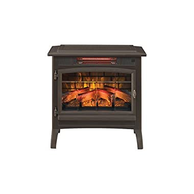 Duraflame 3D Infrared Electric Fireplace Stove with Remote Control - DFI-5010 (Bronze)