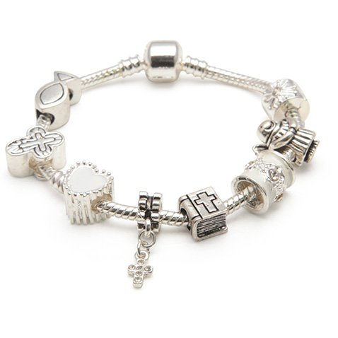 First Communion Holy Jewelry (Liberty Charms Children's Holy Communion/Confirmation Silver Plated Charm Bracelet 16cm (5-8yrs))