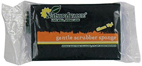 Natural Value Gentle Scrubber Sponge (Pack of 24) by Natural Value