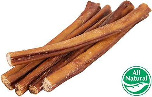 12″ Straight Bully Sticks for Dogs [LARGE THICKNESS] (50 Pack) – All Natural & Odorless Bully Bones | Long Lasting Chew Dental Treats | Best Thick Bullie Sticks for K9 or Puppies | Grass-Fed Beef Review