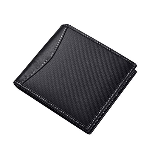 Men Genuine Leather Wallet JINBAOLAI Extra Capacity Bifold Wallet Anti-magnetic Multi-card Scratch Proof Cow Leather Mini Purse