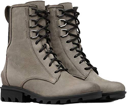 (SOREL Women's Phoenix Lace Boots, Nubuck/Quarry, Grey, 8.5 M US)