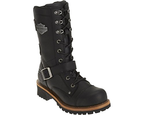 Harley-Davidson Women's Albara Leather Motorcycle Boots. D87066 (Black, 6)