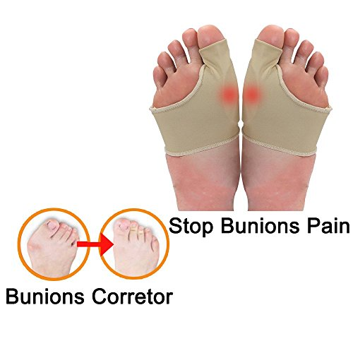 Bunions Corrector Relief Sleeve Gel Bunions Pads Splint Orthopedic Bunions Protector Cushion for Men and Women – Hallux Valgus Corrector Bunions Bootie Guard Stop Bunion Pain (1-Pair) Wear in Shoes by Etechwork