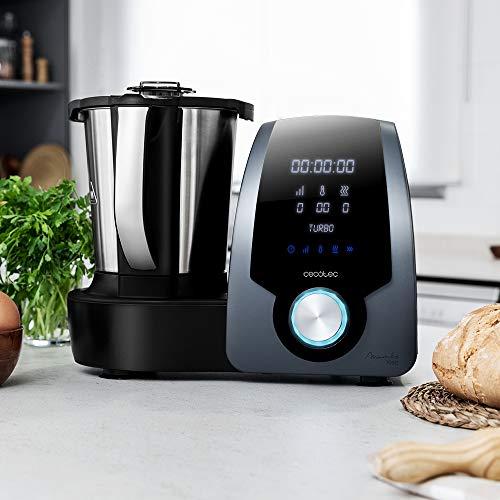 Cecotec Robot de Cocina Multifunci/ón Mambo Silver Temperatura hasta 120/ºC con Selecci/ón Grado a Grado 10 Velocidades Programable hasta 12h 1700 W Turbo Capacidad de 3,3l Incluye Recetario