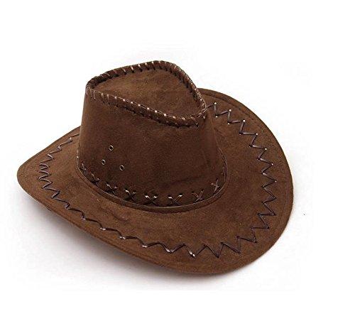 Cowboyhut Westernhut Cowgirl australien Texas Cowboy Damenhut Herrenhut Hut Hüte Western Dunkelbraun