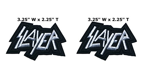Outlander Outdoor Brand Application Classic Rock Slayer Band Music Cosplay Badge Embroidered Iron or Sewn-On Applique Patch 2-Pack Gift (King Slayer Costumes For Women)