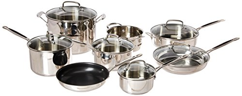 (Cuisinart 77-14N Chef's Classic Stainless 14-Piece Set, Stainless Steel )
