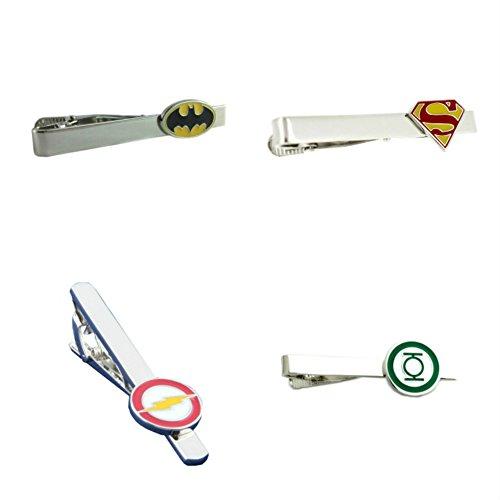 Family Of 4 Disney Costume Ideas (DC Comics (4-Set) Superhero Logo's Men's/Boys Tie Clip Tie Bar with Gift Box)