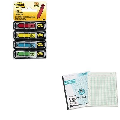 KITMMM684SHWLJG7208A - Value Kit - Wilson Jones Accounting Pad (WLJG7208A) and Post-it Arrow Message 1/2amp;quot; Flags (MMM684SH)