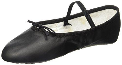 Miguelito B1000PN240 Balerinas en Piel Unisex para Adultos, Color Negro, 24