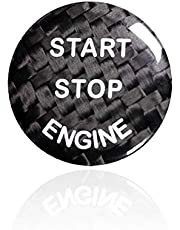 Carbon Fiber Sports Engine Start Stop Button Cover Keyless Go Ignition Stickers For BMW