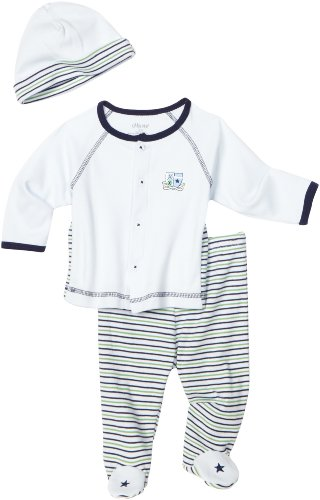 Little Me Baby-boys Newborn Crest 3 Piece Take Me Home Set Pant Set