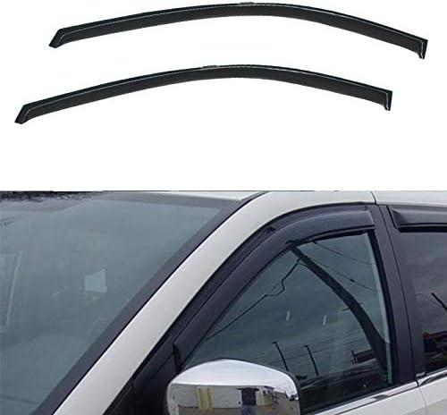 Tape-On Rain Guard Window Visor Dark Grey 2pcs 1996-2007 Dodge Grand Caravan