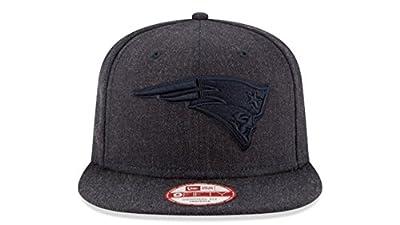 New Era New England Patriots 9Fifty Black & Black Logo Adjustable Snapback Hat NFL