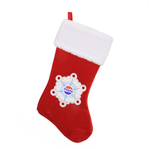 Northlight 19.25'' Decorative Pepsi Snowflake Embroidered Christmas Stocking by Northlight