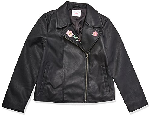 The Children's Place Big Girls' Moto Jacket, Black, L (10/12) by The Children's Place (Image #1)