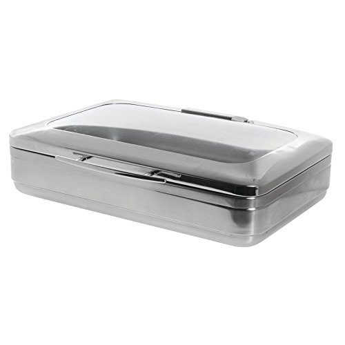 Expressly HUBERT 8 4/5 Qt Modern Style Full Size Stainless Steel Chafer - 22 4/5''L x 18 9/10''W x 6 3/10''H by Hubert