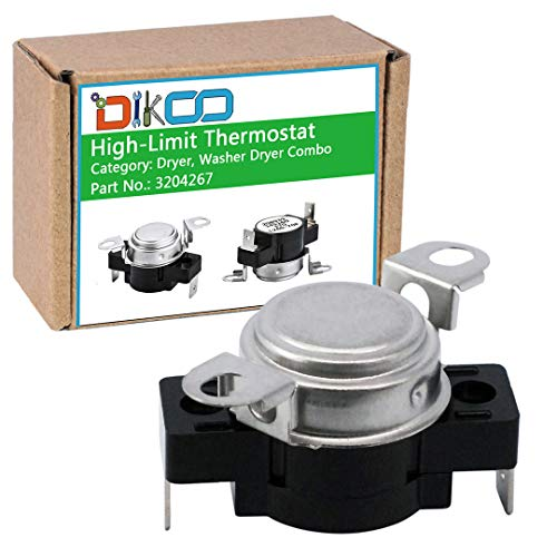 DIKOO 3204267 Dryer High-Limit Thermostat for Frigidaire, Kenmore, Electrolux Dryer Replaces 508516 EA446428 73204267 AP213147 (Thermostat Frigidaire High Limit)