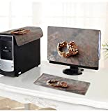 """PRUNUS Computer dust Cover Wedding Rings Crown dust Cover 3 Pieces Set /18"""""""