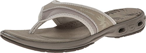 (Columbia Women's KAMBI Vent Sandal, Silver sage, Stone, 9 Regular US)