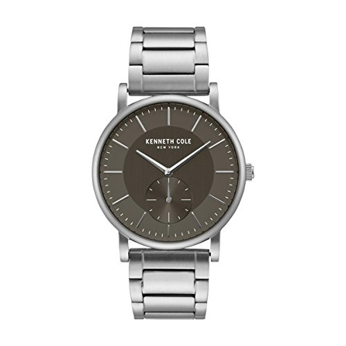 Kenneth Cole New York Men's Quartz Stainless Steel Casual Watch, Color:Silver-Toned (Model: KC50066001)