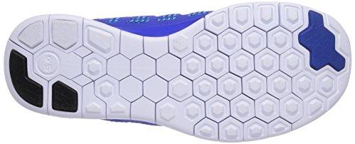 Nike Kids Free 5.0 (big) Lyon Blue / Metallic Silver-blue Lagoon-black