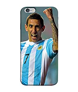 ColorKing Football Dimaria Argentina 03 Multicolor shell case cover for Apple iphone 6 / 6s
