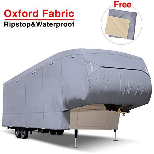 RVMasking Oxford 5th Wheel RV Cover, Fits 37' 1