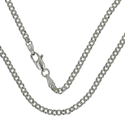 The Olivia Collection TOC Unisex Sterling Silver 14 Gram Rolo Chain 20