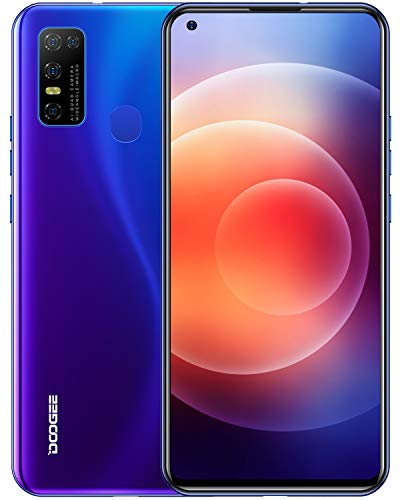 DOOGEE N30 Moviles Libres, Pantalla de 6.55″ DotDisplay, 4 GB+128 GB, 4G Smartphone Cámara Cuádruple 16 MP, 8MP Frontal Cámara, Procesador Octa-Core, Batería 4500 mAh, Android 10 Telefono Movil, Azul