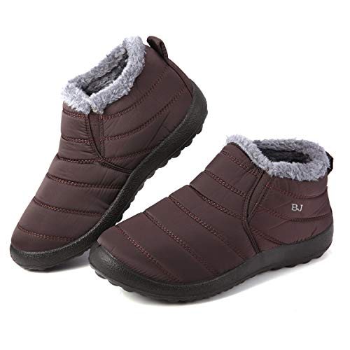 gracosy Warm Snow Boots, Winter Warm Ankle Boots, Fur