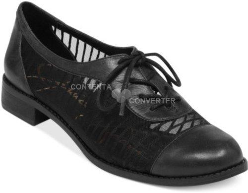 Jessica Simpson Women Tallinoh Oxford Shoes Black Mesh