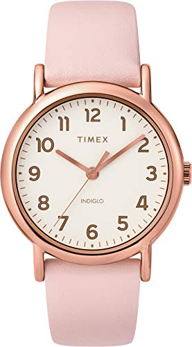 Timex Womens Analogue Classic Quartz Watch with Leather Strap TW2T30900