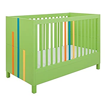 Little Guy Comfort 4013147 Hometown Children s Convertible 3 in 1 Crib and Youth Toddler Bed Conversion Kit, Large Lime Green