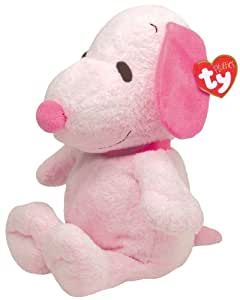 Ty Pluffies Snoopy - All Pink