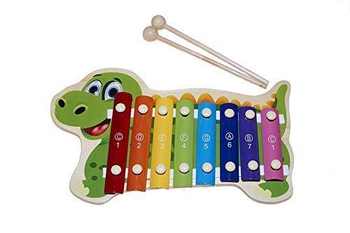 instrument jouet musical Juguetutto- en forme de dinosaure devertido pour créer des sons et des rythmes joyeux