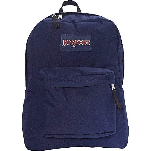 JanSport Superbreak Backpack - Durable for School & Travel, with Padded Shoulder Straps - (Navy Moonshine)